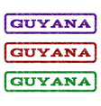 guyana watermark stamp vector image