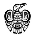 haida bird tattoo vector image vector image