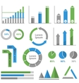 Infographic graph set vector image
