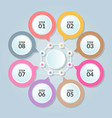 infographic template circle connection for use vector image vector image