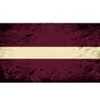 Latvian flag Grunge background vector image vector image