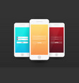 login screens mobile app material design ui ux vector image