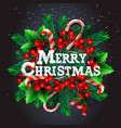 merry christmas background with christmas vector image vector image