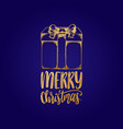 merry christmas lettering with vector image