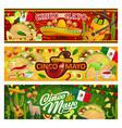 mexican symbols and food cinco de mayo holiday vector image vector image