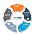 Modern circle infographics vector image