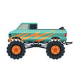 monster truck vehicle heavy pickup car with large vector image vector image