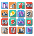 Oil Industry Flat Icons vector image vector image
