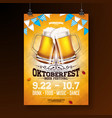 oktoberfest party poster with fresh vector image vector image