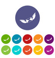 paper airplane icons set flat vector image vector image