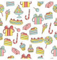 pattern of sweets vector image vector image