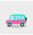 pink green colorful modern car with flowers print vector image