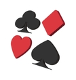 Playing card suit in black and red cartoon icon vector image vector image