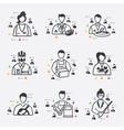professions infographic vector image