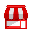 retail shop flat icon vector image vector image
