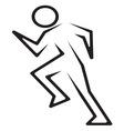 Running man3 vector image vector image