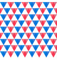 seamless pattern of blue red and white triangles vector image vector image