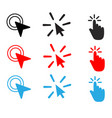 set double click filled icon mouse double click vector image