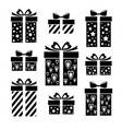 set gift icons collection of gift box signs vector image