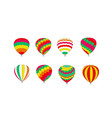 set multicolored balloons on a white background vector image vector image