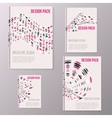 Set of brochure cover design templates with vector image vector image