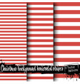 set of christmas stripes backgrounds vector image