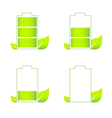 Set of green eco friendly battery icons vector image