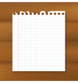 Sheet Of Paper On Wooden Background vector image vector image