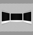 slider of blank photo frame with shadow effect