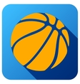 Sport icon with basketball ball in flat style vector image vector image
