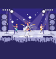 stadium with rock concert vector image