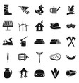 stockroom icons set simple style vector image vector image