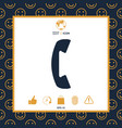 telephone handset telephone receiver symbol vector image vector image