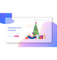 tradition giving presents website landing page vector image vector image