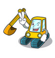 two finger excavator character cartoon style vector image vector image
