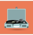 Vinyl player icon Retro and Music design vector image vector image