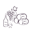 wine composition vector image vector image