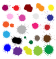 Color Blobs Stains Set vector image