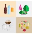 picnic icon set vector image