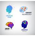 set of creative mind brainstorm smart vector image
