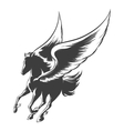 Engraving Winged Horse vector image