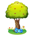 A tired monster under the tree vector image vector image