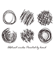 Abstract circles Painted by hand vector image vector image