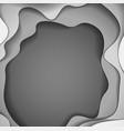 abstract grey paper cutout curvy shapes layered vector image