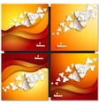 Abstract paper flowers Autumn background vector image vector image
