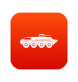 armored personnel carrier icon digital red vector image vector image
