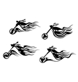 Biker tattoos vector image vector image