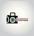 black icons for photographer on white background vector image vector image