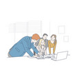 business meeting brainstorming concept vector image