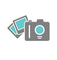 camping photos icon on white background for vector image vector image